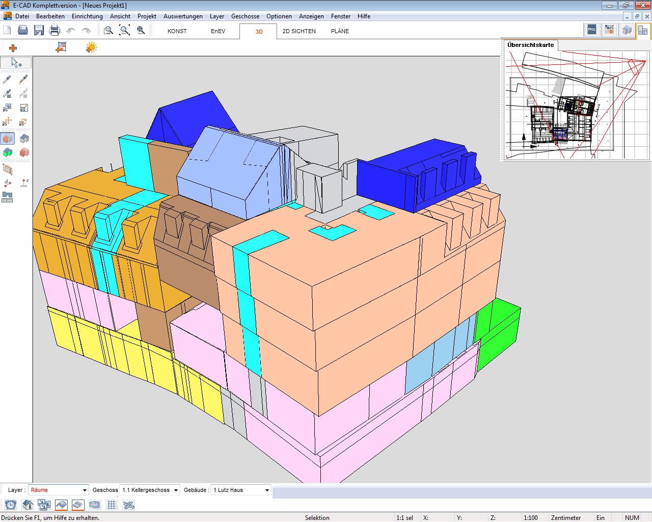 Ein 3D Modell Aus E CAD Vermittelt Jedem Bauherrn Eine Genaue Räumliche  Vorstellung Seines Gebäudes.