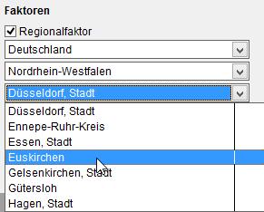 BKI Baukosten-Regionalfaktoren für jeden Stadt- und Landkreis in Deutschland